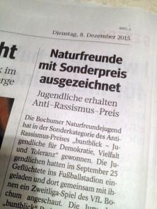 WAZ 1 - Antirassismuspreis