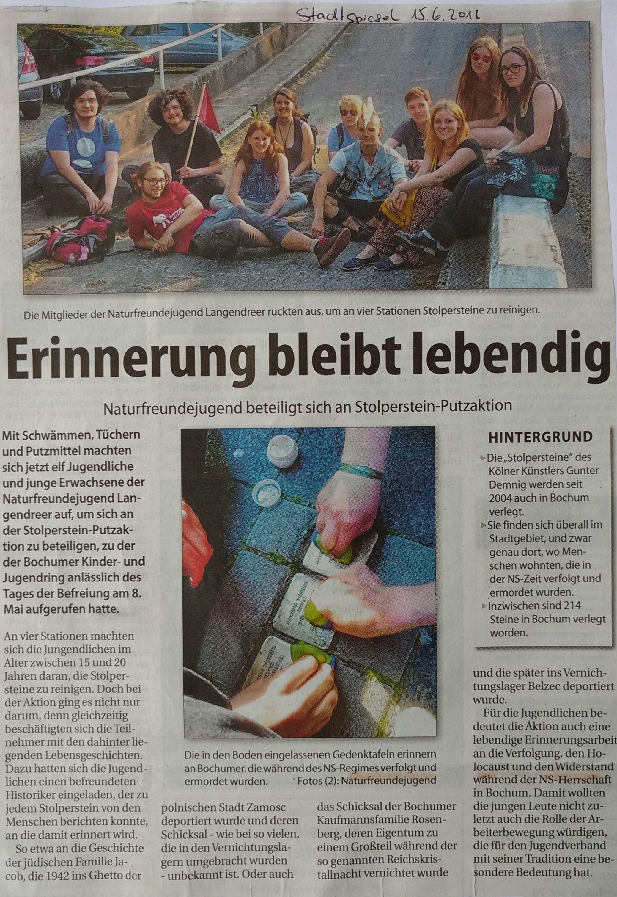 Stolperstein-Aktion_Stadtspiegel 13.06.2016